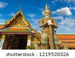 demon guardian in wat phra kaew ... | Shutterstock . vector #1219520326