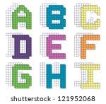 colorful alphabet blocks... | Shutterstock .eps vector #121952068