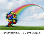asperger syndrome as a... | Shutterstock . vector #1219530016
