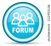 forum blue glossy icon on white ...   Shutterstock . vector #121953136