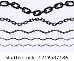 silhouette of chain illustration   Shutterstock .eps vector #1219537186