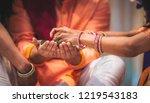 indian pakistani wedding mehndi ... | Shutterstock . vector #1219543183