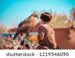 the tamer of the predatory... | Shutterstock . vector #1219546090