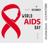 world aids day red ribbon... | Shutterstock .eps vector #1219547080