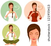 illustrations of a beautiful...   Shutterstock .eps vector #121955413