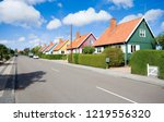 traditional colorful wooden... | Shutterstock . vector #1219556320
