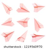 Set Of Origami Airplane...