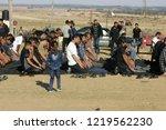 palestinian demonstrators... | Shutterstock . vector #1219562230