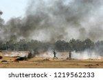 palestinian demonstrators... | Shutterstock . vector #1219562233
