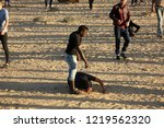 palestinian demonstrators... | Shutterstock . vector #1219562320
