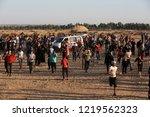 palestinian demonstrators... | Shutterstock . vector #1219562323