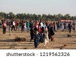 palestinian demonstrators... | Shutterstock . vector #1219562326