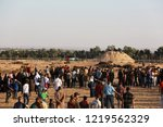 palestinian demonstrators... | Shutterstock . vector #1219562329