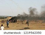 palestinian demonstrators... | Shutterstock . vector #1219562350