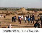 palestinian demonstrators... | Shutterstock . vector #1219562356