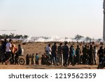 palestinian demonstrators... | Shutterstock . vector #1219562359