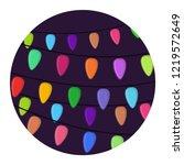 vector cartoon bright garland... | Shutterstock .eps vector #1219572649