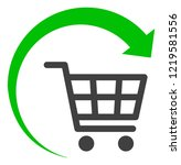 repeat shopping cart icon on a... | Shutterstock . vector #1219581556