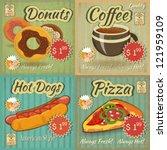set of retro fast food menu... | Shutterstock .eps vector #121959109
