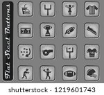 american football web icons on... | Shutterstock .eps vector #1219601743