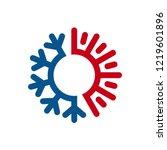 hot cold wave logo design... | Shutterstock .eps vector #1219601896