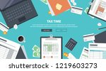 tax payment. government  state... | Shutterstock .eps vector #1219603273