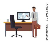 business people and office... | Shutterstock .eps vector #1219615579