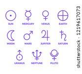 vector set planet symbols.... | Shutterstock .eps vector #1219617073