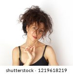 disheveled  attractive young...   Shutterstock . vector #1219618219