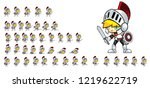 animated knight game character... | Shutterstock .eps vector #1219622719