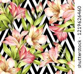 seamless pattern with... | Shutterstock . vector #1219626460