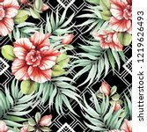 seamless pattern with... | Shutterstock . vector #1219626493
