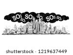 vector artistic pen and ink... | Shutterstock .eps vector #1219637449