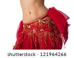 Close Up Shot Of A Belly Dance...