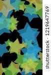multicolored translucent stars...   Shutterstock . vector #1219647769
