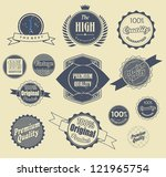 set of retro vintage labels ...