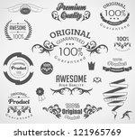 calligraphic design elements... | Shutterstock .eps vector #121965769
