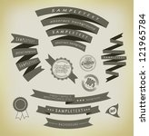 set retro ribbons and label ... | Shutterstock .eps vector #121965784