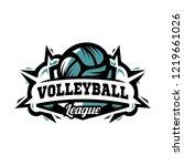 volleyball league logo 01   Shutterstock .eps vector #1219661026