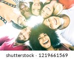 multicultural best friends... | Shutterstock . vector #1219661569