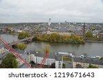 frankfurt cityscape  germany ... | Shutterstock . vector #1219671643