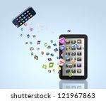 modern communication technology ... | Shutterstock . vector #121967863