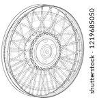 wheel and gear mechanism on a... | Shutterstock .eps vector #1219685050