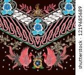 indonesian combination batik... | Shutterstock .eps vector #1219685689