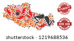 disaster composition of mosaic... | Shutterstock .eps vector #1219688536