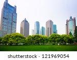 greenbelt park in shanghai... | Shutterstock . vector #121969054