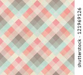 Stock photo seamless checked fabric pattern on paper texture geometric background 121969126