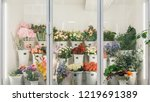 flower shop concept. different... | Shutterstock . vector #1219691389