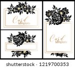 romantic wedding invitation... | Shutterstock .eps vector #1219700353