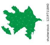azerbaijan map   green pastel... | Shutterstock .eps vector #1219711840